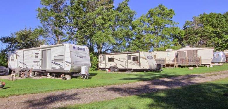 110 Total Sites On 85 Acres O 22 Permanent Park Model Trailers Seasonal Pull Through Owners Home Rental And Cabins